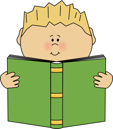 Boy Reading a Book Clip Art - Boy Reading a Book Image
