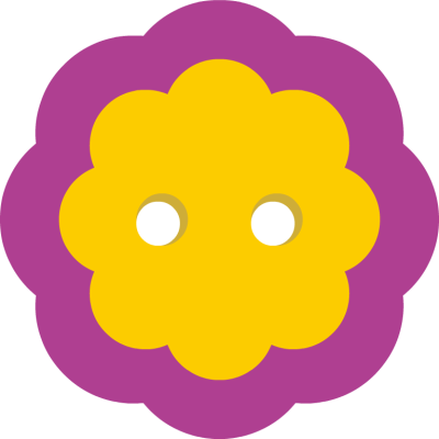 Cute Yellow Button with Purple Border - Free Clip Arts Online ...