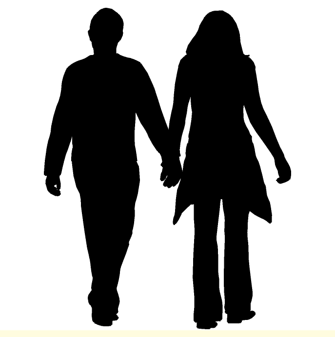 Man And Woman Holding Hands Silhouette | fashionplaceface.