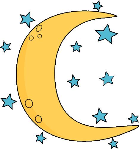 Moon and Stars clipart. Free download transparent .PNG   Creazilla