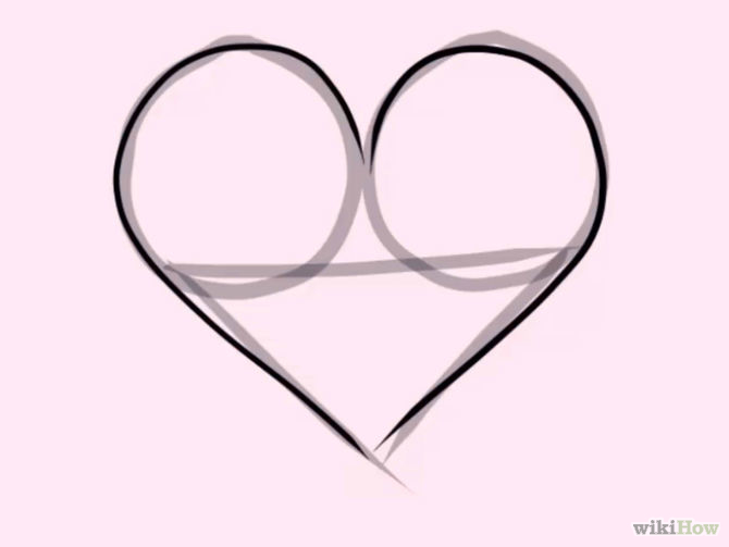 how to draw heart designs