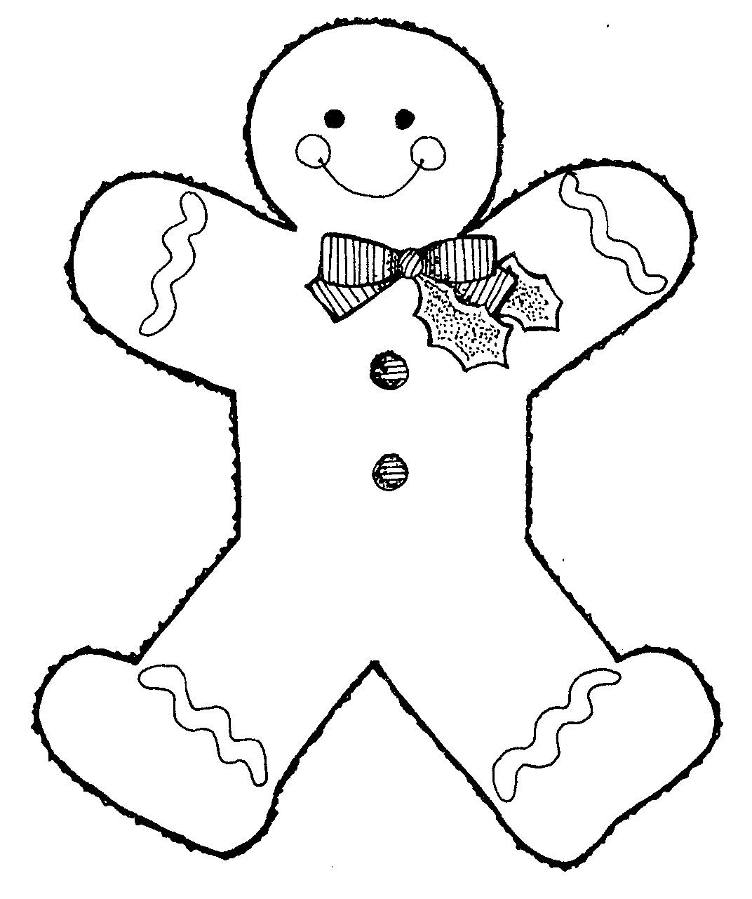 Gingerbread Man Outline Full Page - ClipArt Best