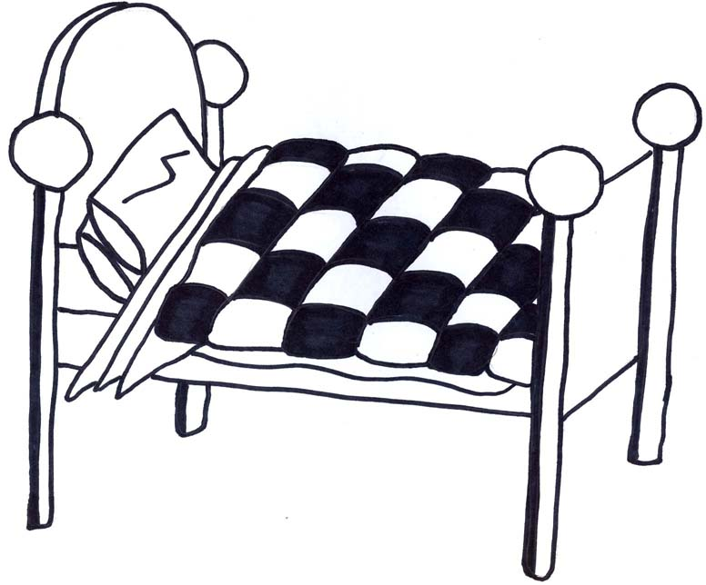 Bed Clipart Black And White - Cliparts.co