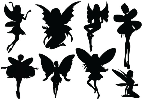 This is a graphic of Resource Fairy Silhouette Printable