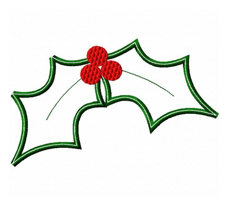 Holly Leaves Applique | Embroidery | Pinterest