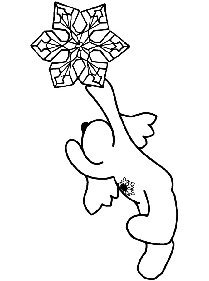 snow angel coloring page - snow angel pictures