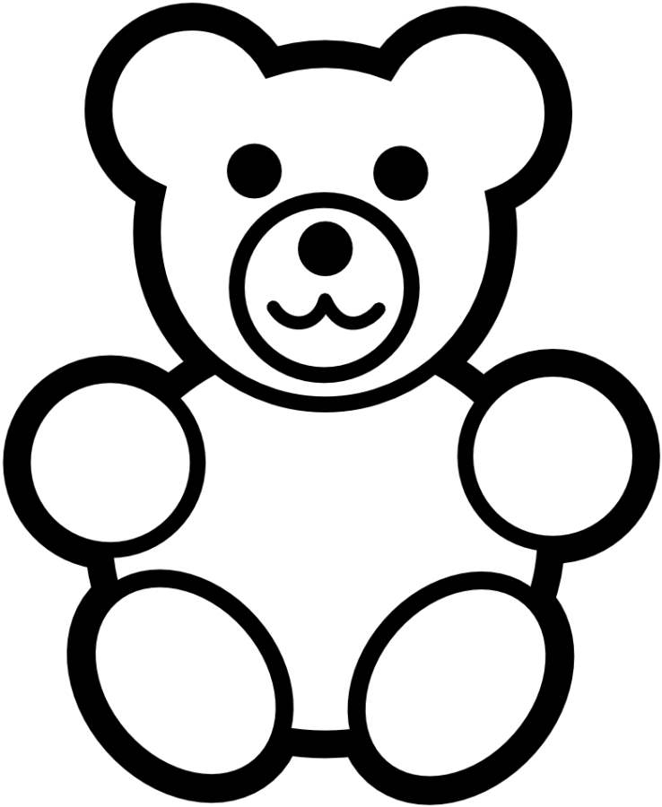 cartoon teddy bear coloring pages - photo#42