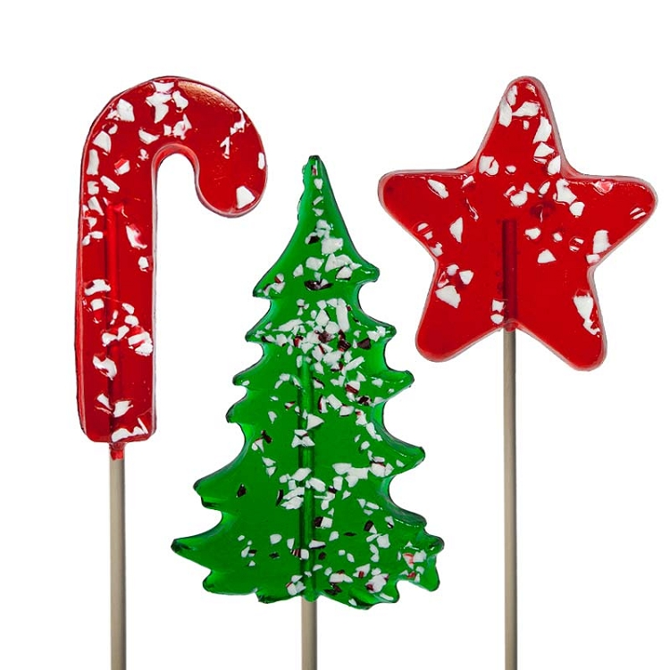 Icon Peppermint Lollipop Assortment: 24 Hard candy lollipops ...