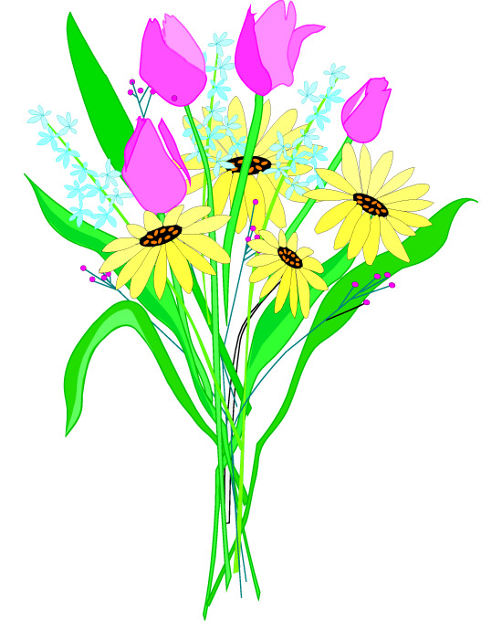 Free Flower Bouquet Clip Art - ClipArt Best