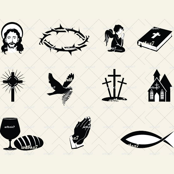 free cross and crown clipart - photo #34