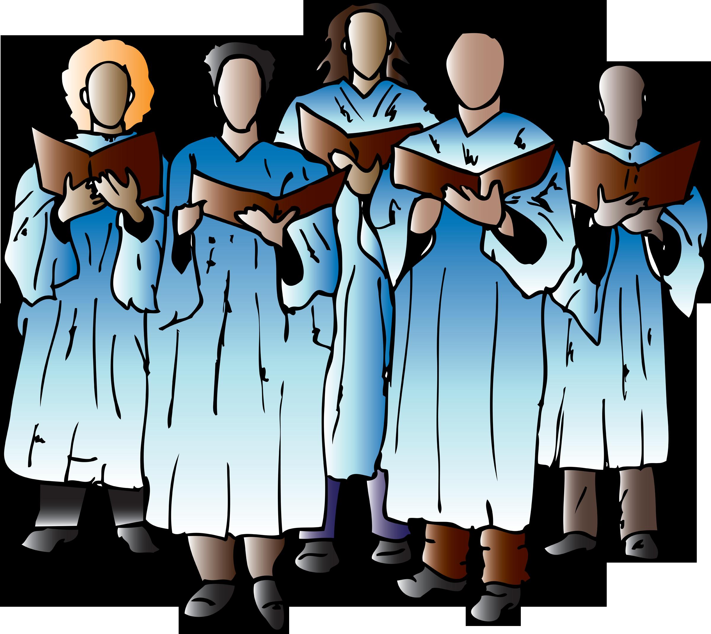 church singers clipart -#main