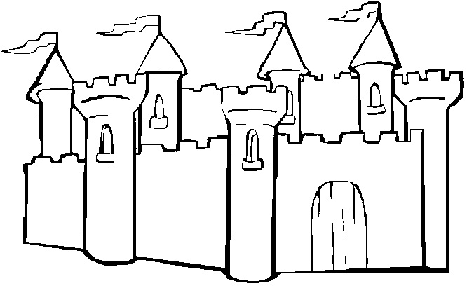 Castle Coloring Pages For Preschoolers