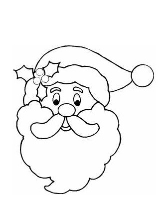 Santa Claus Outline On Coloring Pages Of Santas Sleigh
