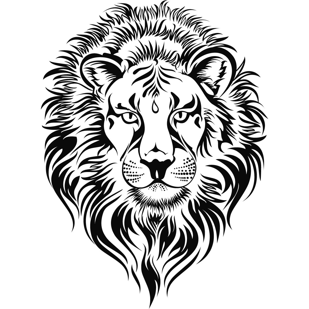 Line Art Lion : Lion head clipart cliparts