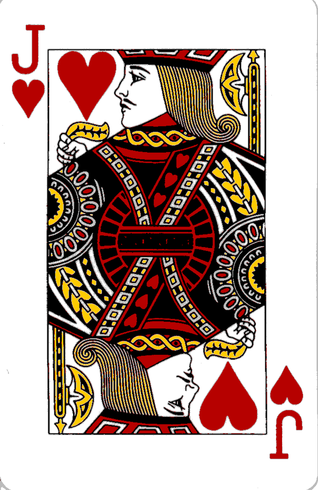 Heart Playing Cards - Cliparts.co