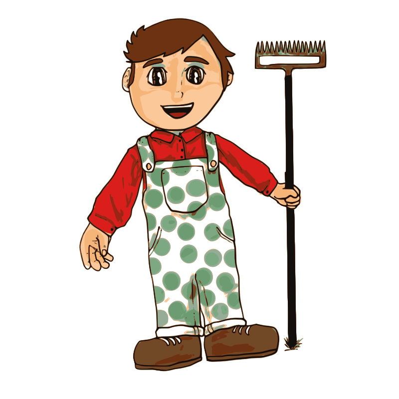 Clipart - Farmer Boy