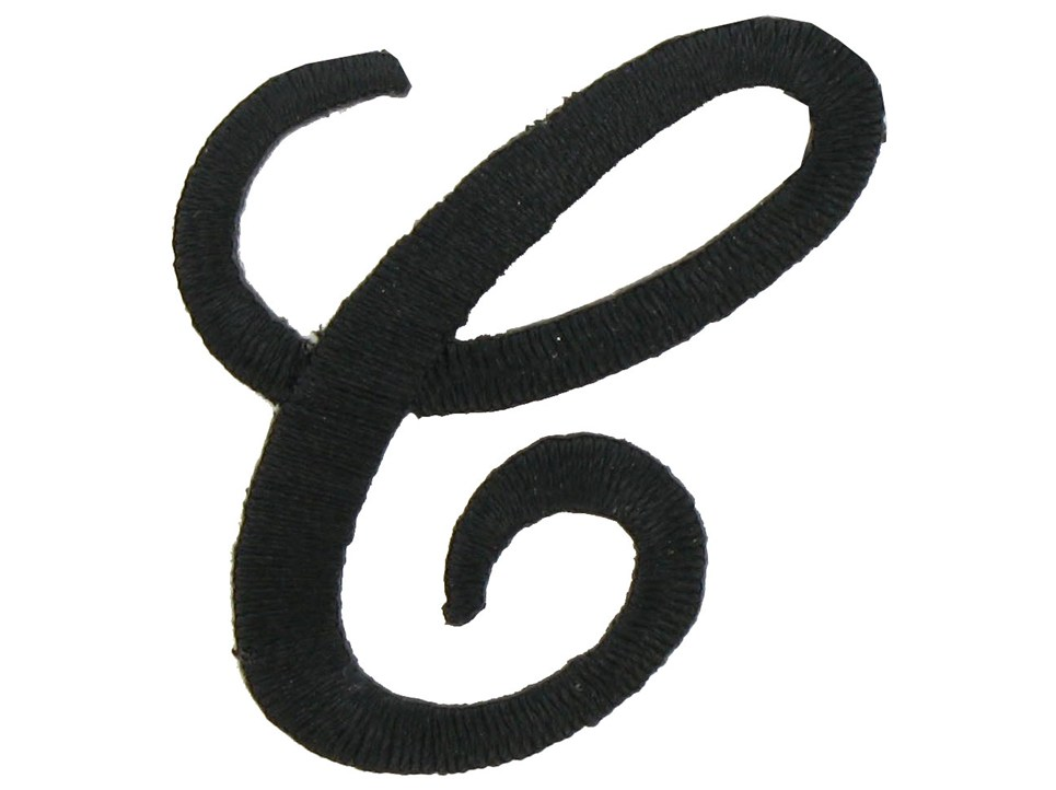 Script Letter G Iron-On Script Letter - C