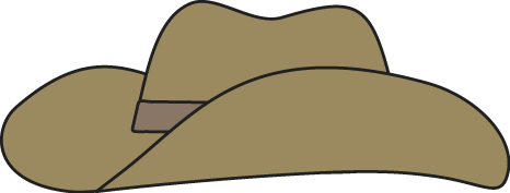 Brown Cowboy Hat Clip Art - Brown Cowboy Hat Image
