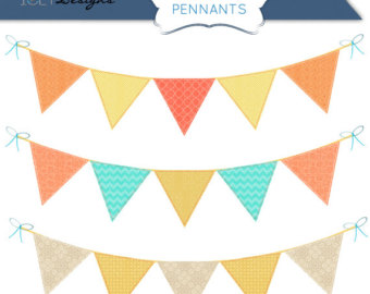Popular items for pennant clipart on Etsy