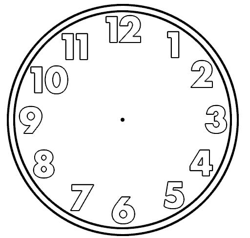 Printable Blank Clock Face - ClipArt Best