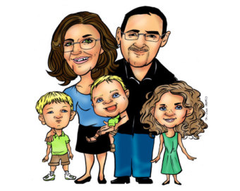 Popular items for family cartoon on Etsy