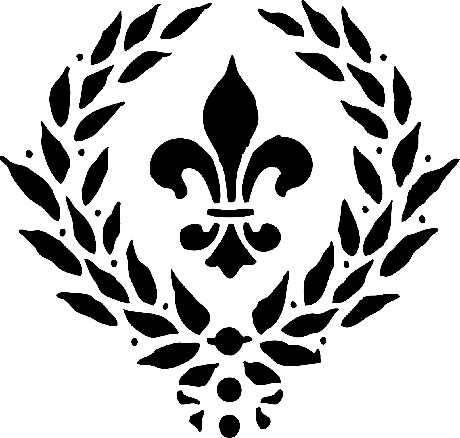 fleur de lis template cliparts co