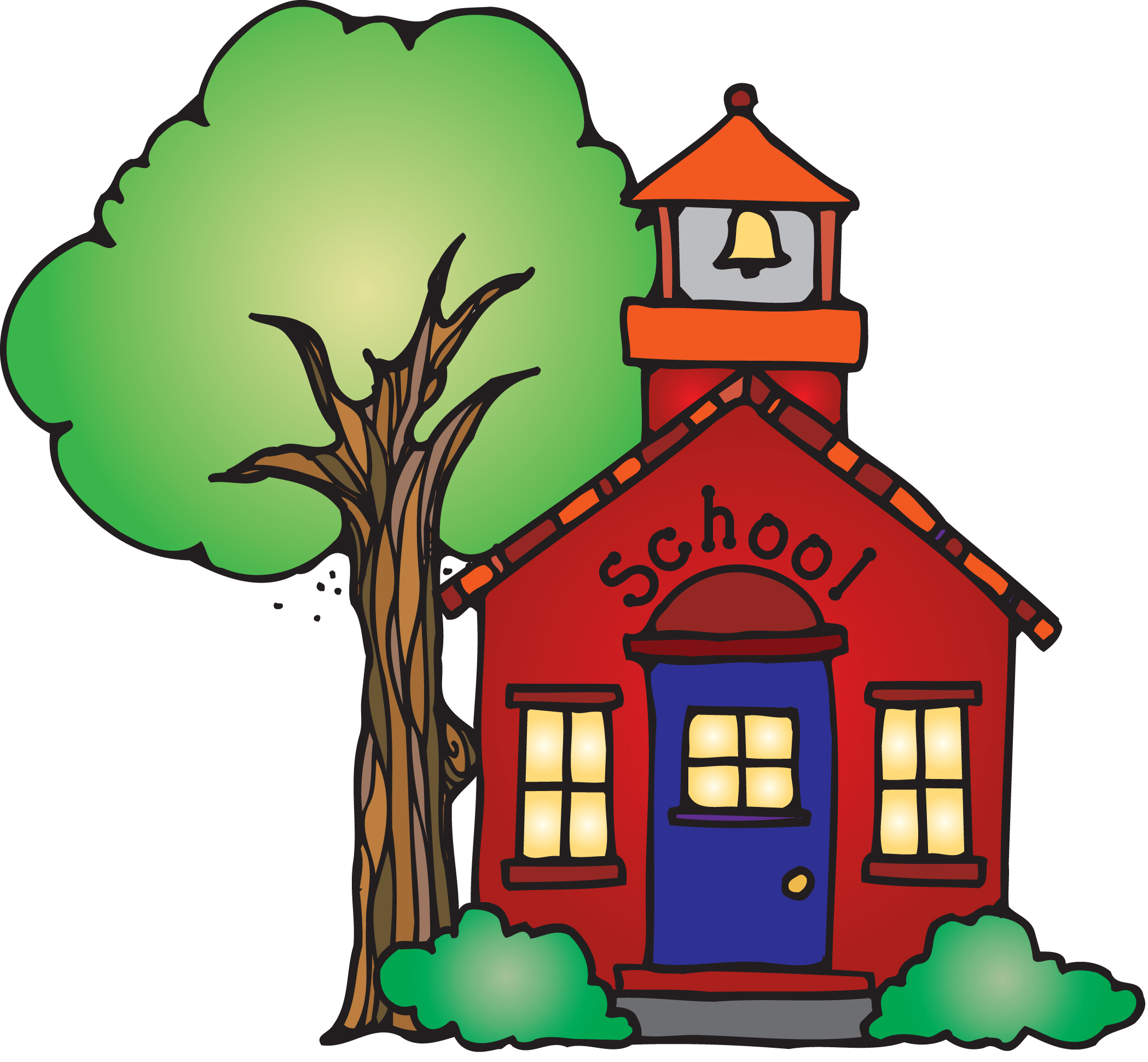 Red School House Clip Art - Cliparts.co