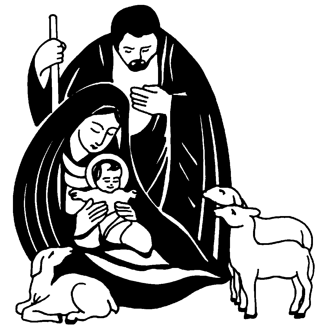 Jesus Clip Art Black And White | Clipart Panda - Free Clipart Images