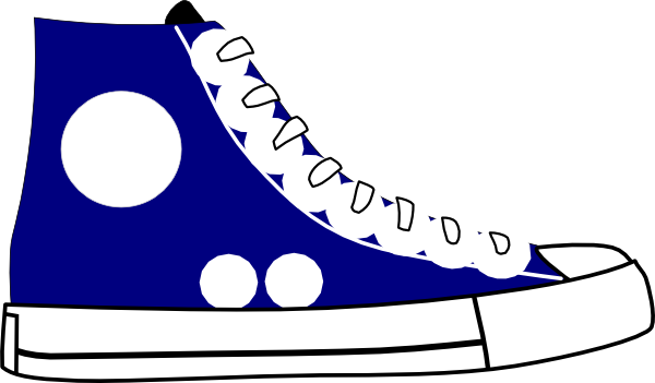 Tennis Shoe clip art - vector clip art online, royalty free ...