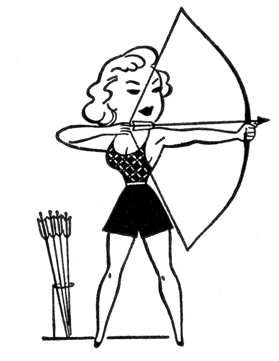 Girl Archery Clipart Images & Pictures - Becuo
