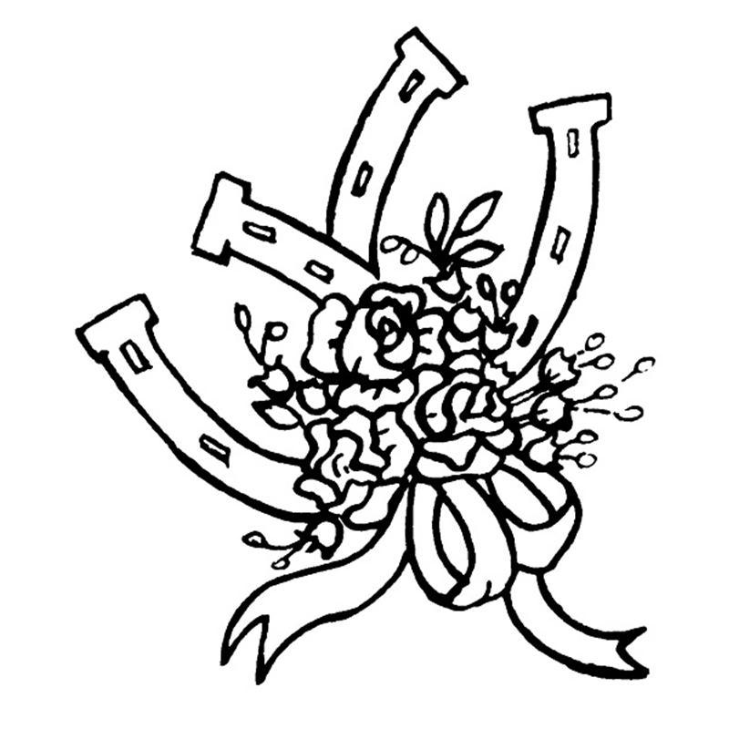 Shoe Flower Line Drawing : Clip art horse shoe cliparts
