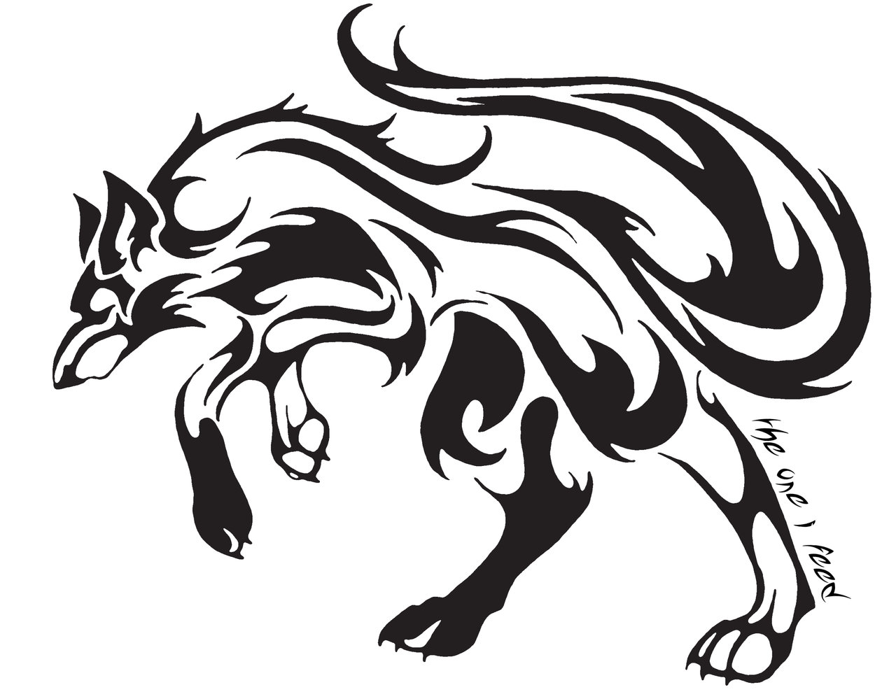 cool tribal fox designs to draw clipartsco