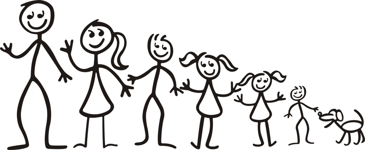 Stick People Family Images  Family