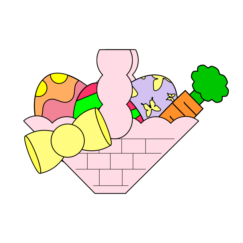 picture of easter basket   cliparts co