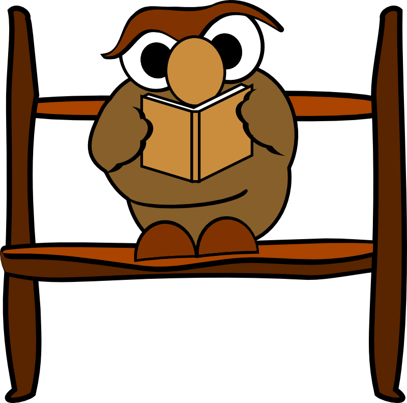 Clipart - Reading owl