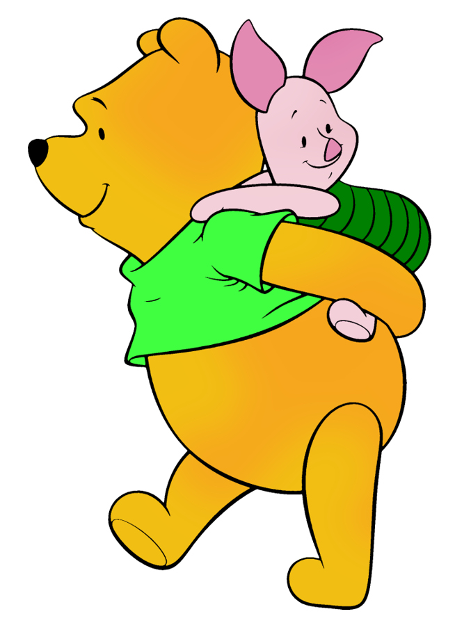 Disney's Pooh & Piglet St. Patrick's Day Clipart Green --> Disney-