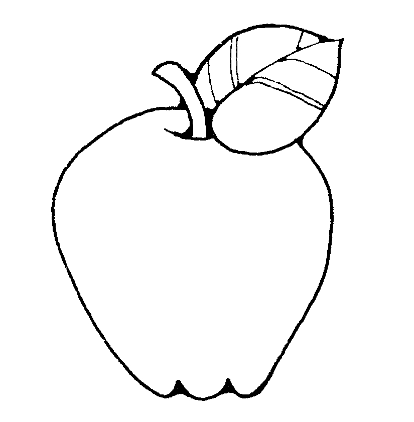 Apple Black And White Clip Art - Cliparts.co