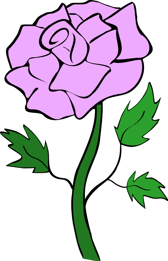 Purple Rose Clip Art - Noelle Nichols' Blog