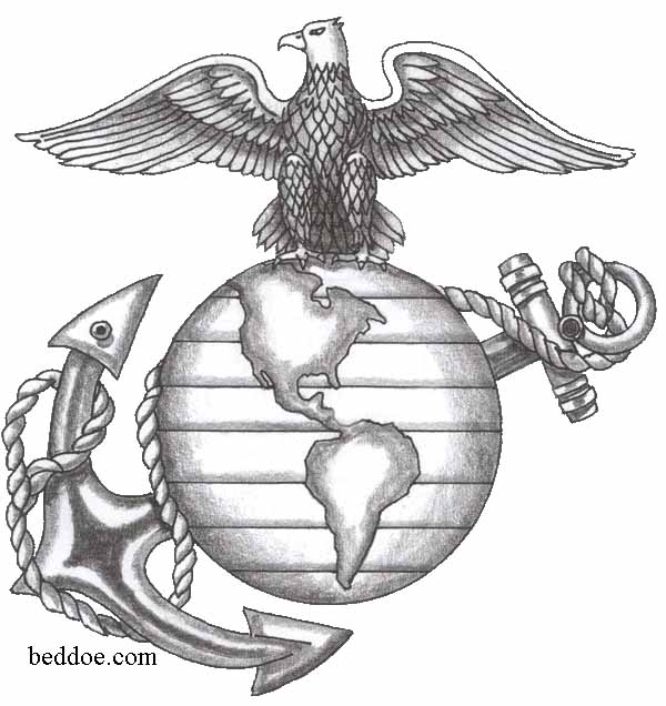 Anchor Tattoo Line Drawing : Eagle globe and anchor cliparts