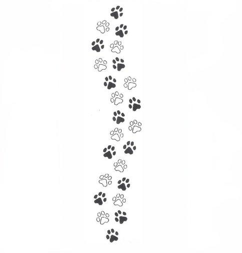 black paw print wallpaper border - photo #11