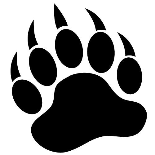 Bear Paw Stencil - Cliparts.co