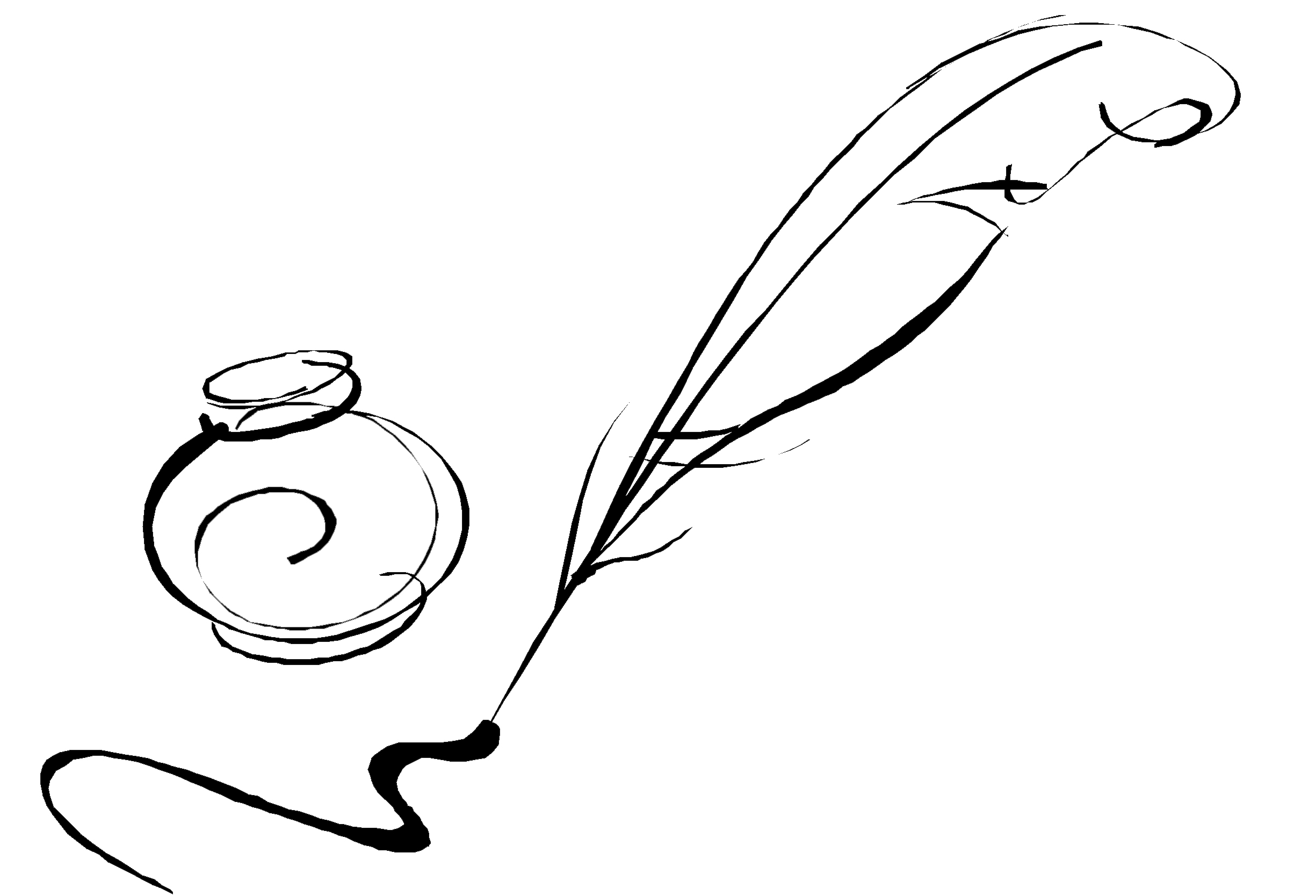 Line Drawing Of Quill : Quill pen image cliparts