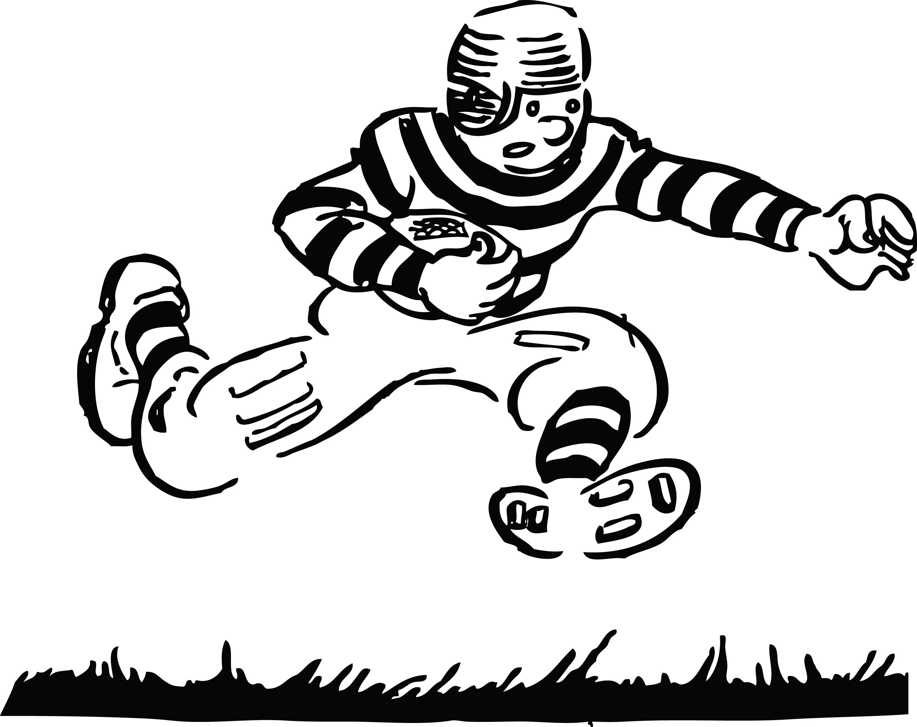 Football Clipart Black And White | Clipart Panda - Free Clipart Images