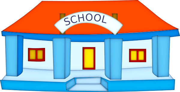 Free to Use & Public Domain School Building Clip Art