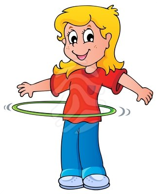 Girl Exercise With Hula Hoop - Clipart # - Cliparts.co