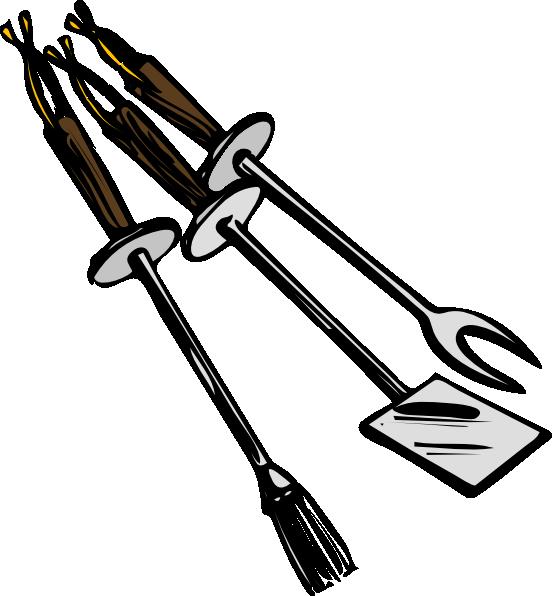 Bbq Grilling Tools clip art - vector clip art online, royalty free ...