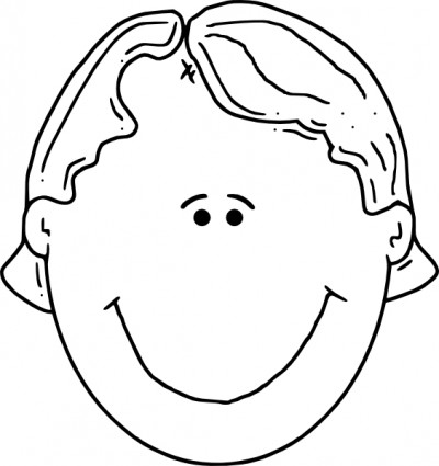 Human face and head outline drawing Free vector for free download ...