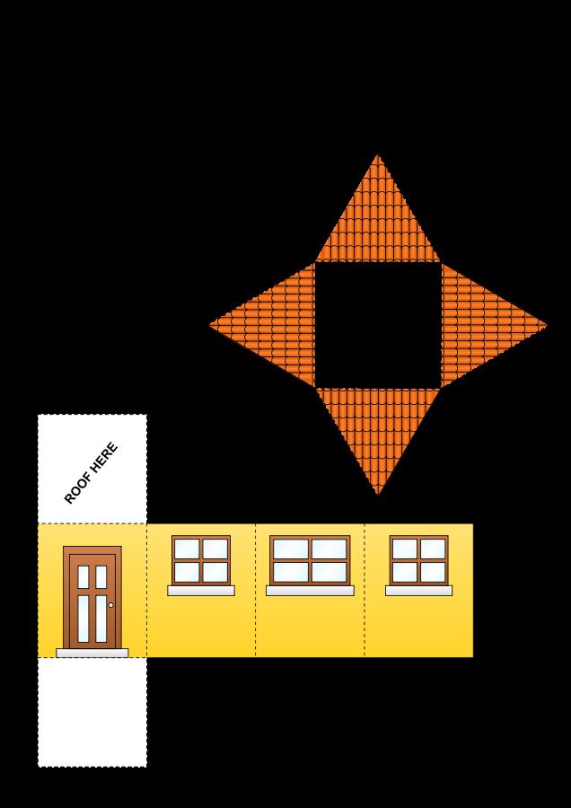Как сделать из бумаги дом из бумаги схемы