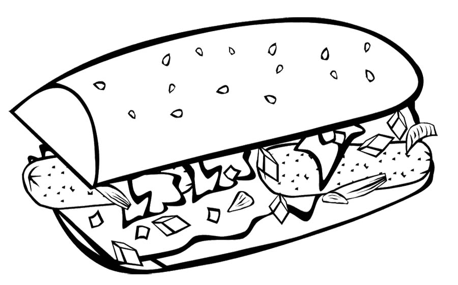 kids coloring pages food - photo#36