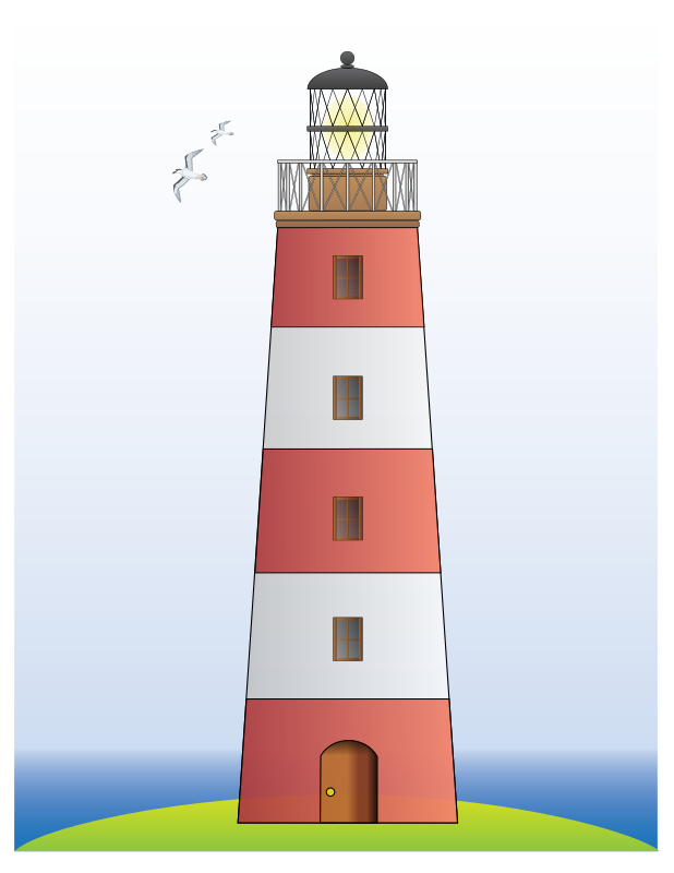 Lighthouse - Free House Clip Art - BCDownload.